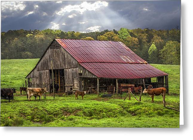 Tennessee Farm Greeting Cards - God Bless the Farmer Greeting Card by Debra and Dave Vanderlaan