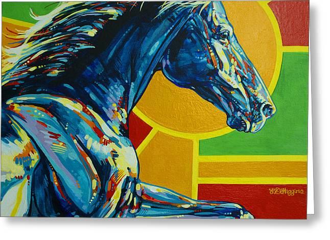 Quarter Horses Greeting Cards - God Dog Greeting Card by Derrick Higgins