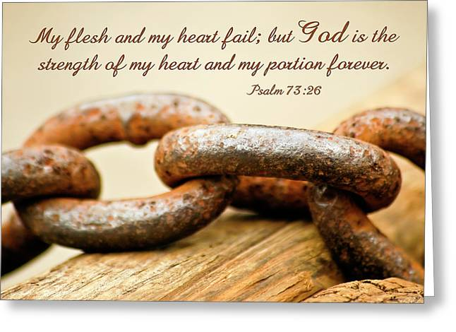 God Is My Strength Greeting Card by Carolyn Marshall