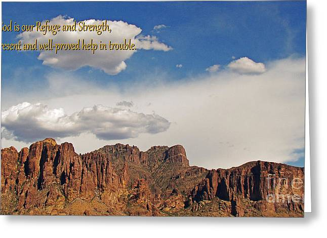 Phoenix Framed Prints Greeting Cards - God is Our Refuge Greeting Card by Beverly Guilliams