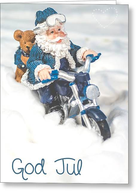 Kjg Greeting Cards - God Jul Greeting Card by Mirra Photography
