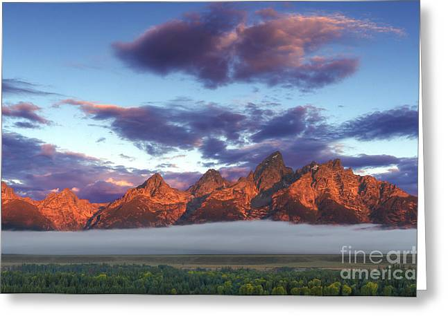 Teton Greeting Cards - God morning Tetons Greeting Card by Marco Crupi