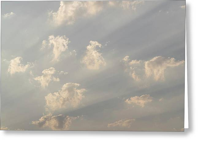 God Rays And Clouds, Okavango Delta Greeting Card by Panoramic Images