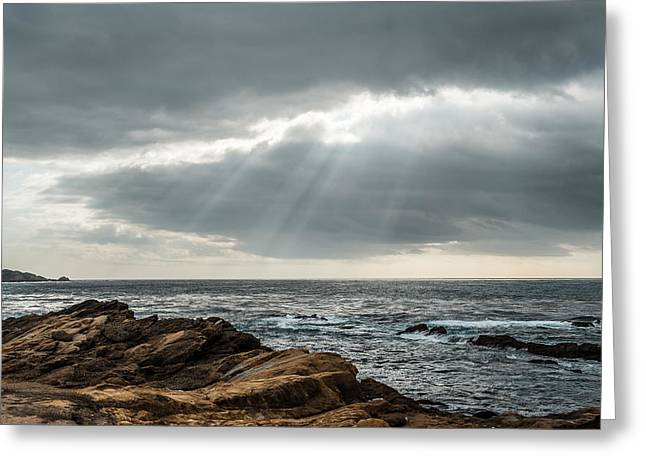 Big Sur California Greeting Cards - God Rays Greeting Card by George Buxbaum