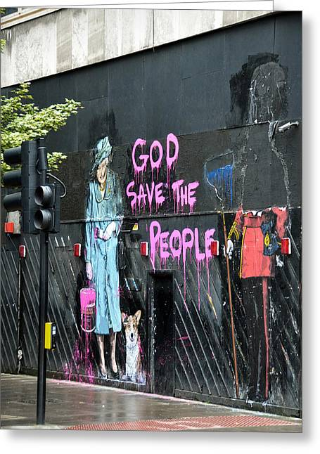 Royal Family Arts Greeting Cards - God save the people Greeting Card by RicardMN Photography