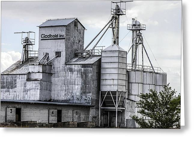 Old Feed Mills Photographs Greeting Cards - Godbold is a feed mill producer in Marfa Greeting Card by Rebecca Dru