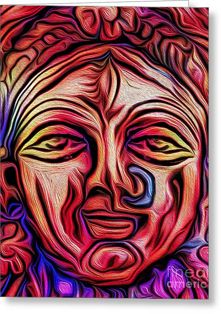 Goddess Durga Digital Art Greeting Cards - Goddess and Mother and Earth Greeting Card by Tarik Eltawil