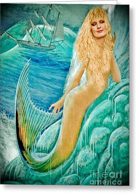 Goddess Atargatis 1000 Bc Greeting Card by Gary Keesler