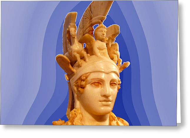 Greek Sculpture Greeting Cards - Goddess Athena Greeting Card by Augusta Stylianou
