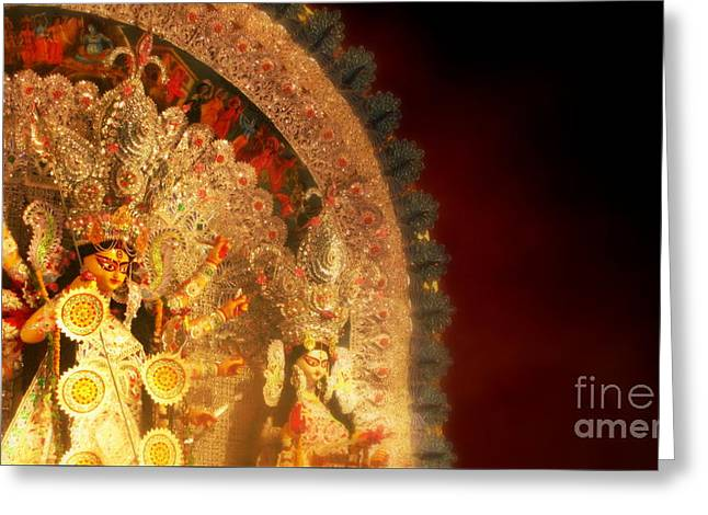 Goddess Durga Greeting Card by Prajakta P