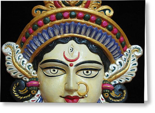 Goddess Durga Greeting Card by Sayali Mahajan