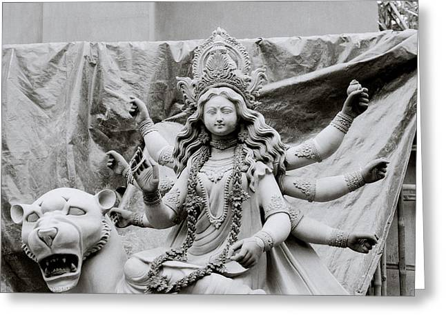 Goddess Durga Greeting Card by Shaun Higson