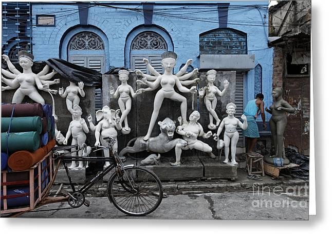 Goddess Durga Greeting Cards - Goddess Durga statues Greeting Card by Milind Ketkar