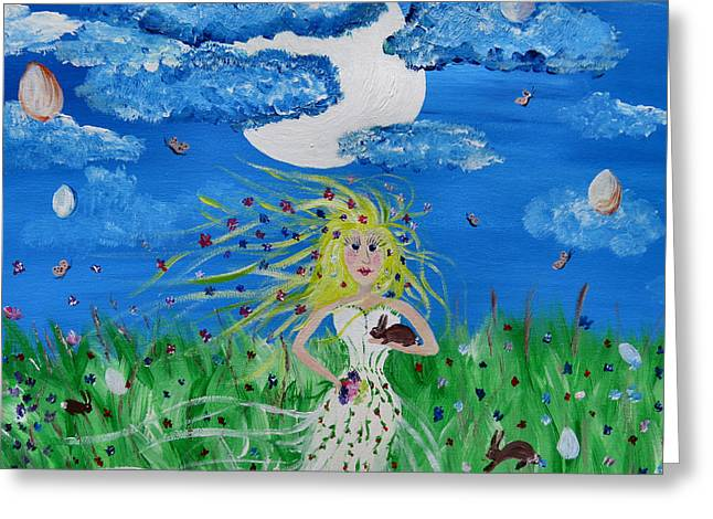 Outsider Photographs Greeting Cards - Goddess Eostre Greeting Card by Michelle Milano