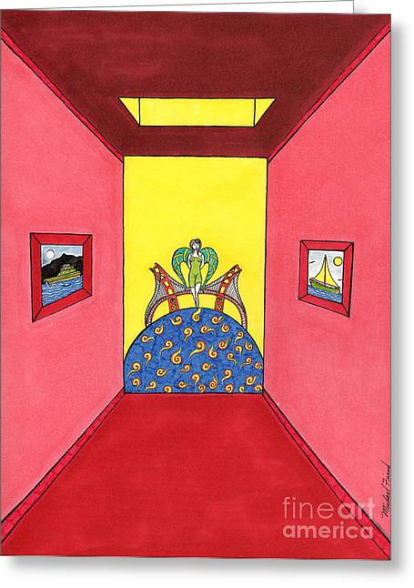 Buildings By The Ocean Greeting Cards - Goddess hall to G.G. Bridge Greeting Card by Michael Friend