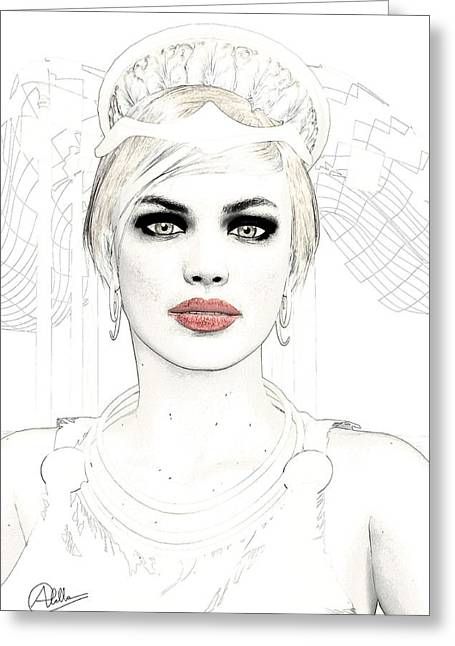 Hera Greeting Cards - Goddess Hera Greeting Card by Joaquin Abella