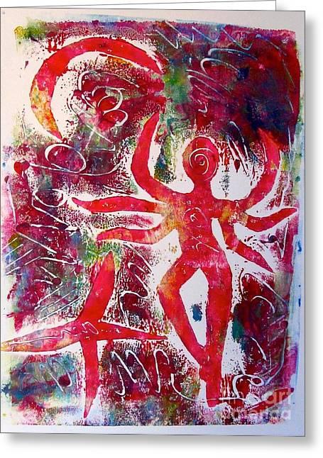 Goddess Kali Greeting Cards - Goddess Kali Greeting Card by Corina  Stupu Thomas