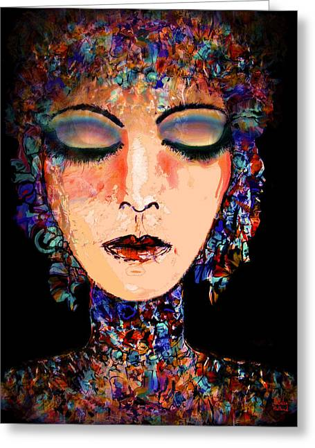 Collar Mixed Media Greeting Cards - Goddess Of Compassion Greeting Card by Natalie Holland