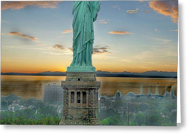 Goddess Of Freedom Greeting Card by Gary Keesler