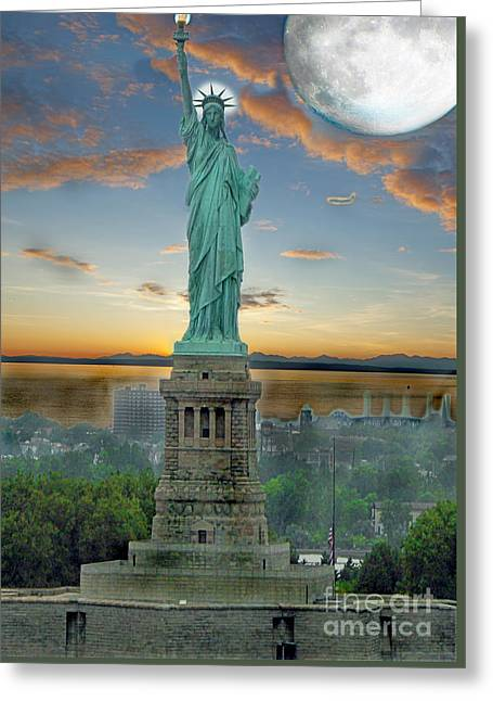 Historic Statue Greeting Cards - Goddess Of Freedom Greeting Card by Gary Keesler