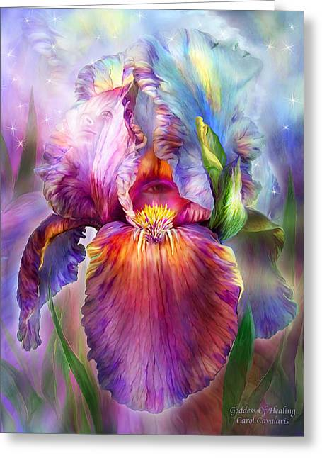 Goddess Of Healing Greeting Card by Carol Cavalaris