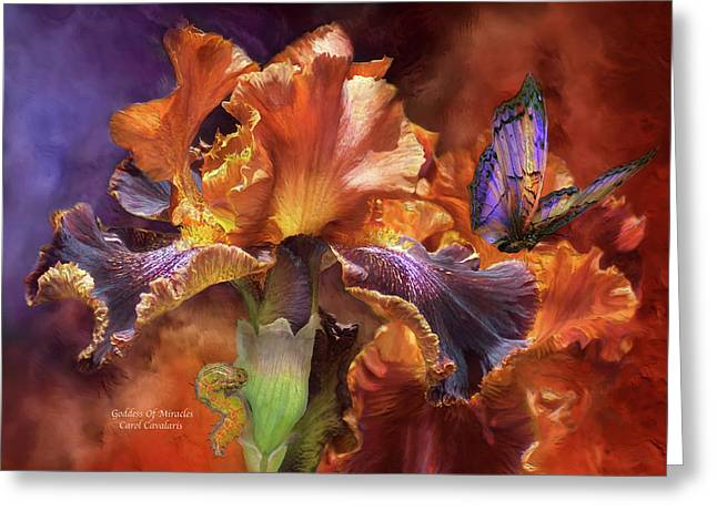 Goddess Of Miracles Greeting Card by Carol Cavalaris
