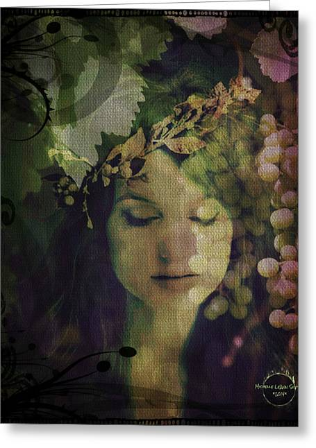 Gaia Greeting Cards - Goddess of Nature Greeting Card by Absinthe Art By Michelle LeAnn Scott