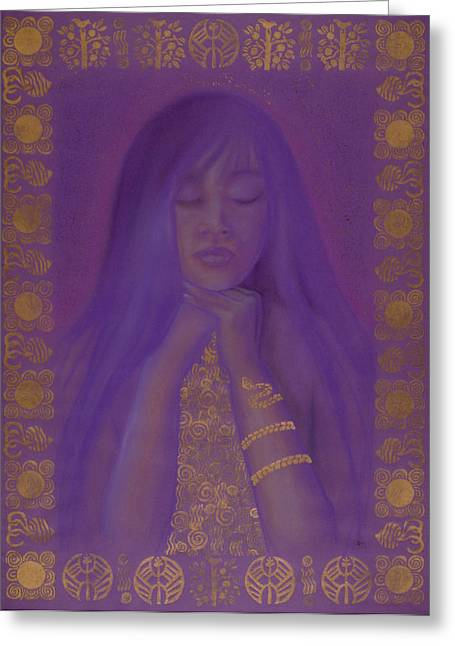 Goddess Birth Art Greeting Cards - Goddess of Regeneration Greeting Card by Diana Perfect