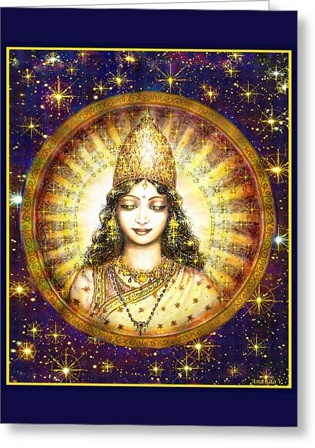 Goddess Greeting Cards - Goddess of Stars Greeting Card by Ananda Vdovic