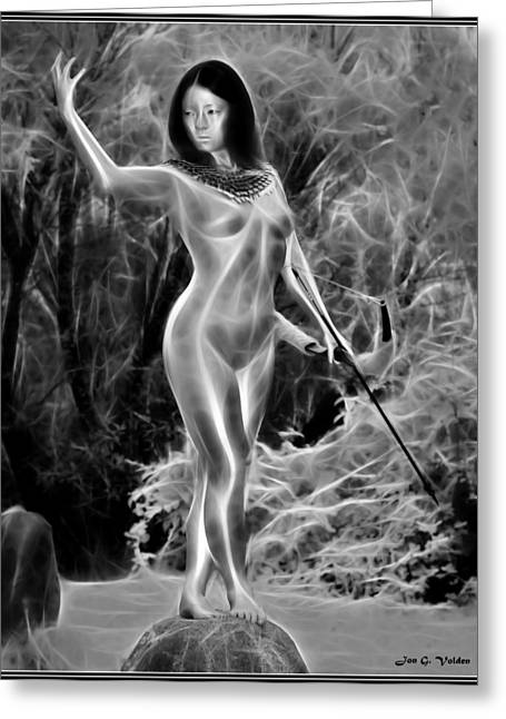 Dungeons Greeting Cards - Goddess Of The Hunt Greeting Card by Jon Volden