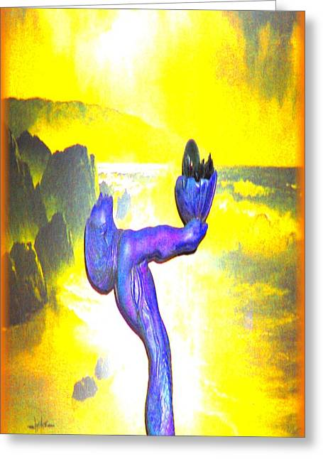 Goddess Of The Sea Greeting Card by Debra MChelle