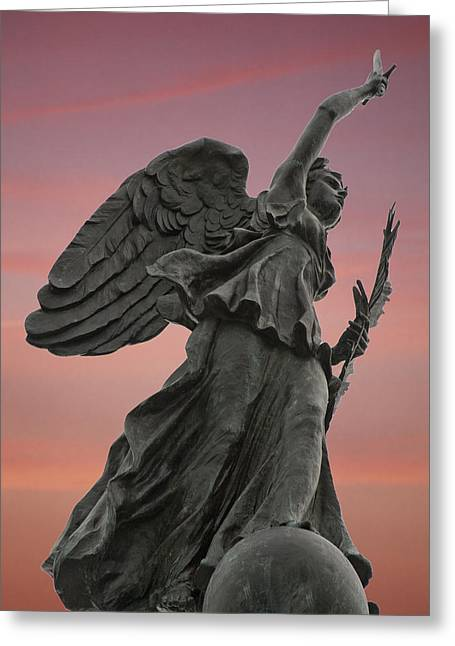 Nike Greeting Cards - Goddess of Victory and Peace Greeting Card by Wayne Letsch
