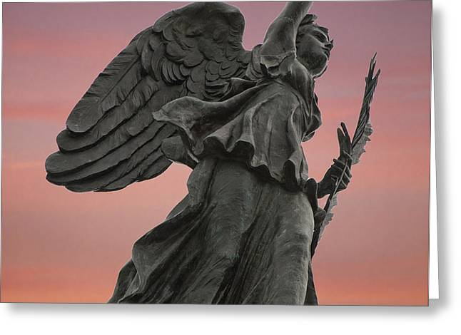 Goddess of Victory and Peace Greeting Card by Wayne Letsch