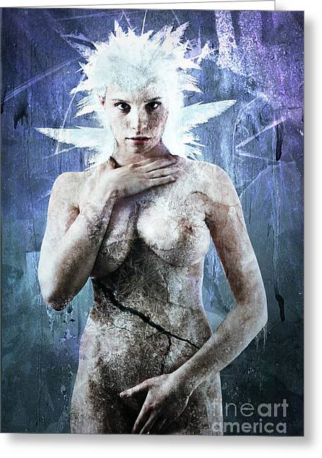 Goth Girl Digital Art Greeting Cards - Goddess of Water Greeting Card by Michael  Volpicelli