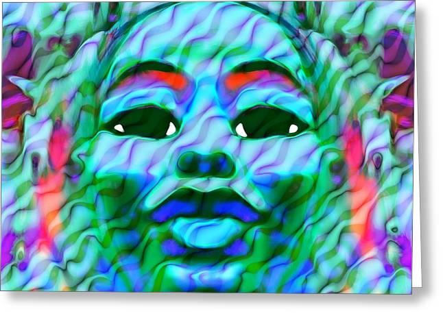 Goddess Oshun 2 Greeting Card by Devalyn Marshall