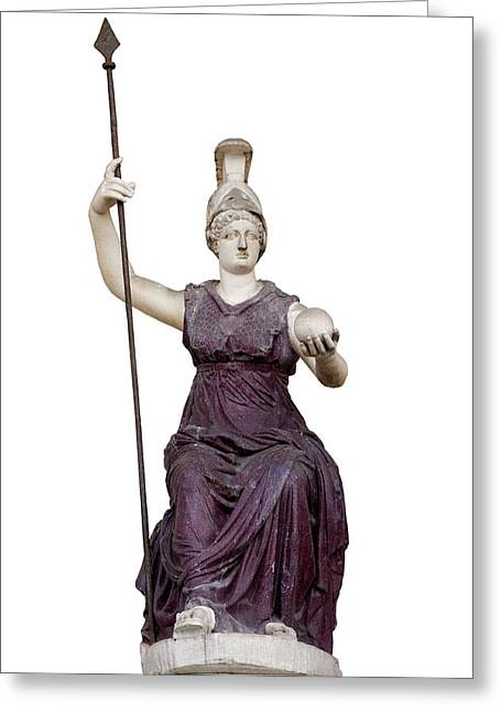 White Background Greeting Cards - Goddess Roma Triumphans Greeting Card by Fabrizio Troiani