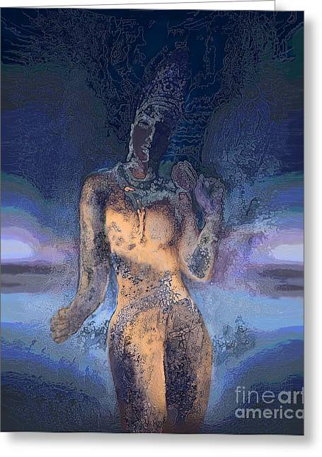 Hindu Goddess Digital Greeting Cards - Goddess Greeting Card by Ursula Freer