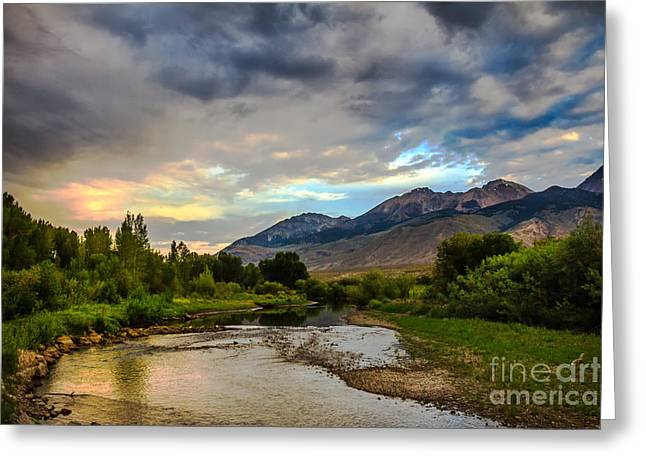 Trappers Greeting Cards - Goddin River At Sunrise Greeting Card by Robert Bales