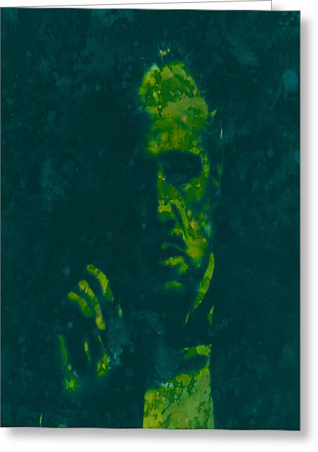 Vito Corleone Greeting Cards - Godfather  Greeting Card by Brian Reaves