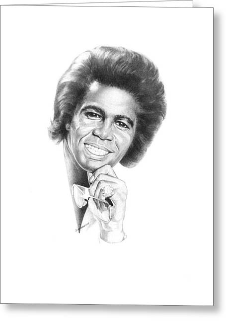African-american Drawings Greeting Cards - Godfather Of Soul Greeting Card by Gordon Van Dusen