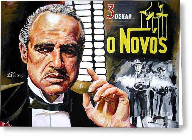 Marlon Brando Poster Greeting Cards - Godfather Greeting Card by Spiros Soutsos
