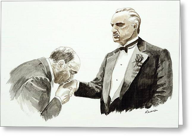 Recently Sold -  - Alcatraz Greeting Cards - Godfather Greeting Card by Timothy Ramos