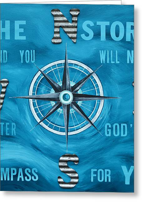 God's Compass Greeting Card by Patti Schermerhorn