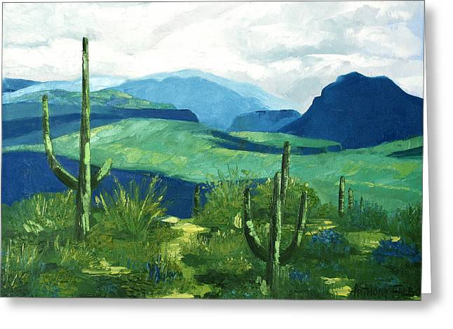 Cacti Digital Greeting Cards - Gods Country Greeting Card by Anthony Falbo