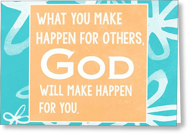 Inspirational Prayers Greeting Cards - Gods Gift - blue Greeting Card by Linda Woods