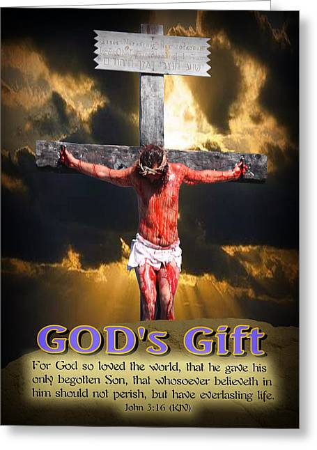 Jesus Mixed Media Greeting Cards - GODs GIFT Greeting Card by Terry Wallace