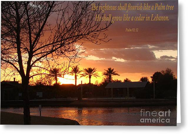 Gods Glory Greeting Card by Beverly Guilliams