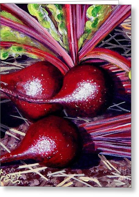 Caroline Street Greeting Cards - Gods Kitchen Series No 2 Beetroot Greeting Card by Caroline Street