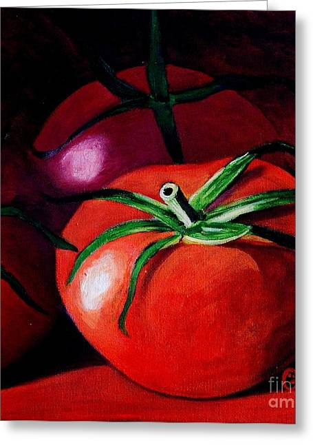 Caroline Street Greeting Cards - Gods Kitchen Series No 3 Tomato Greeting Card by Caroline Street