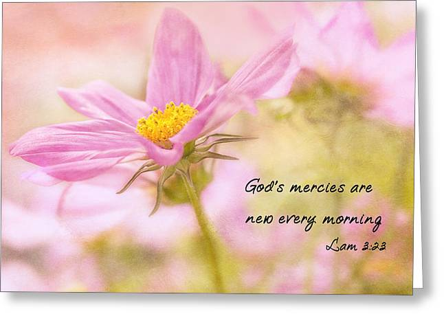 Recently Sold -  - Flower Design Greeting Cards - Gods Mercies Greeting Card by Mary Jo Allen